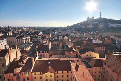 View on Lyon, France