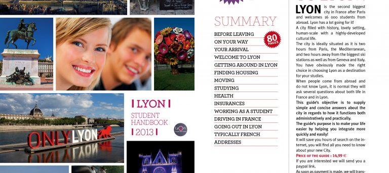 Guide pour Etudiants Etrangers - Lyon - 80 pages - Lyon Expat Services